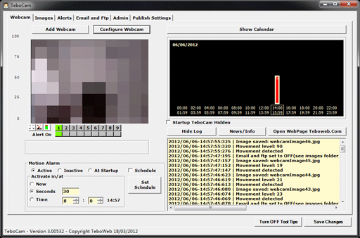 TeboCam 3   将摄像头变成远程监视器