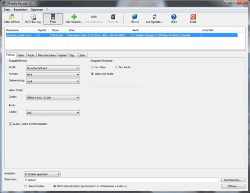 XMedia Recode   免费的视频格式转换工具