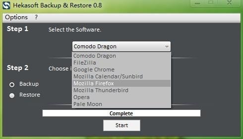 Hekasoft Backup & Restore   备份及恢复主流浏览器的资料