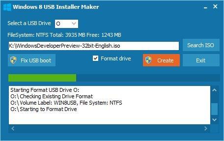 Windows 8 USB Installer Maker   制作 WIN8 安装U盘