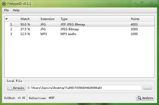 FiletypeID   教你辨别无扩展名的文件类型