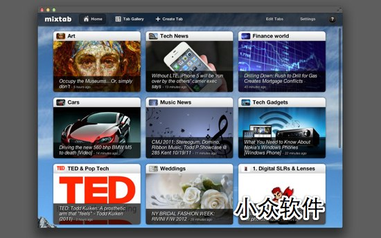 Mixtab   Google Reader 客户端 [Mac/iPad]