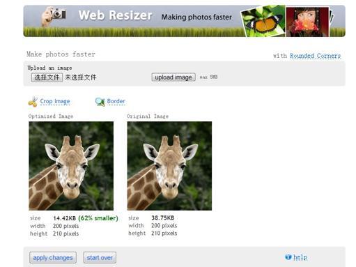 Web Rsizer   在线快速缩小照片