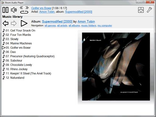 Boom   派生自 foobar2000 的轻量级音乐播放器