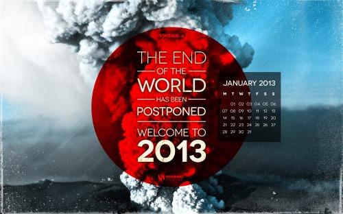 分享 20 款漂亮的 2013 年1月月历壁纸[图] | 93876软件园