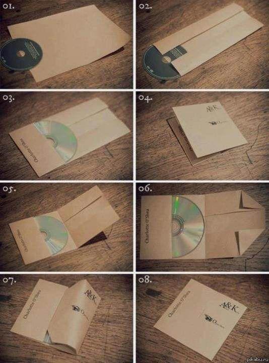 教你用 A4 纸折出 CD 保护套