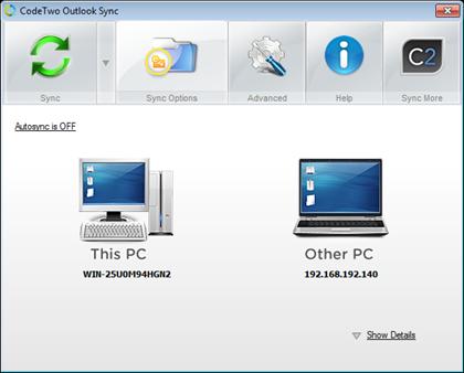 Outlook Sync   同步不同电脑上的 Outlook 通讯录日历