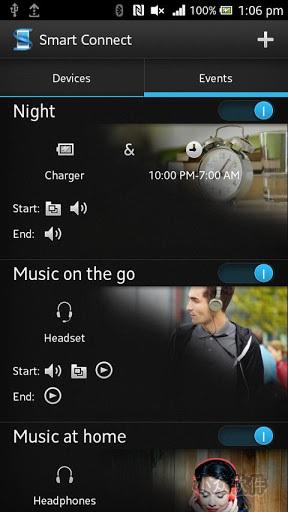 智能连接   让您決定手机连接到其他装置时执行的动作